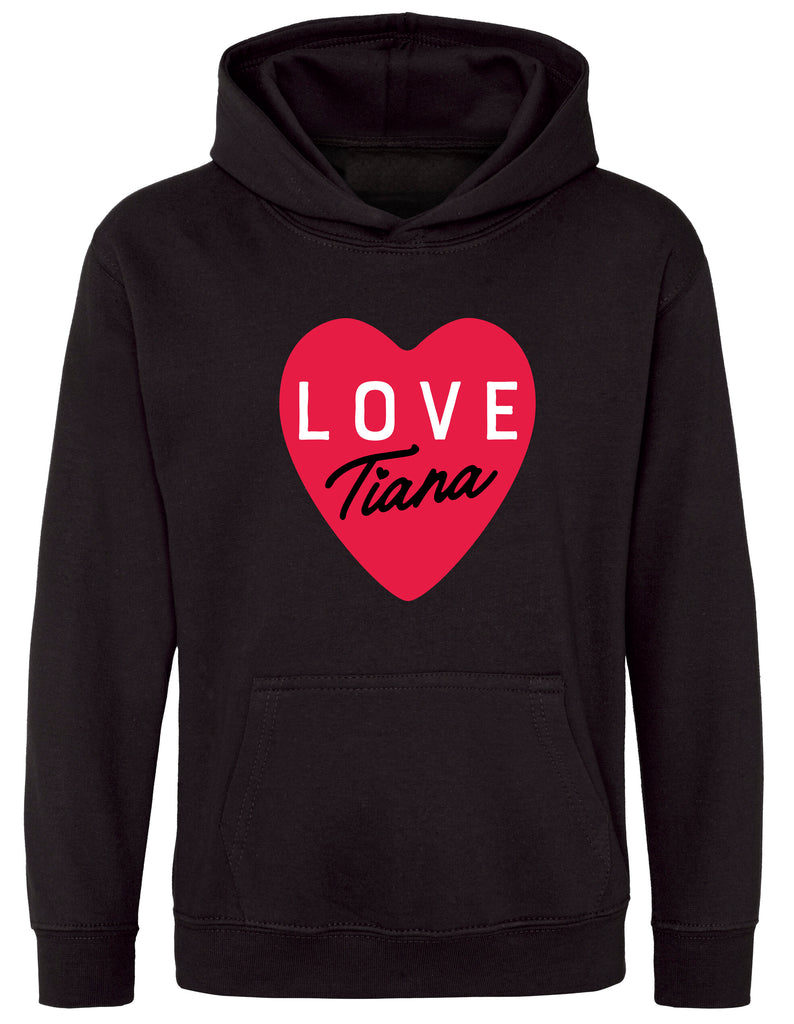 Hearts By Tiana - Love Tiana Hoodie in Black
