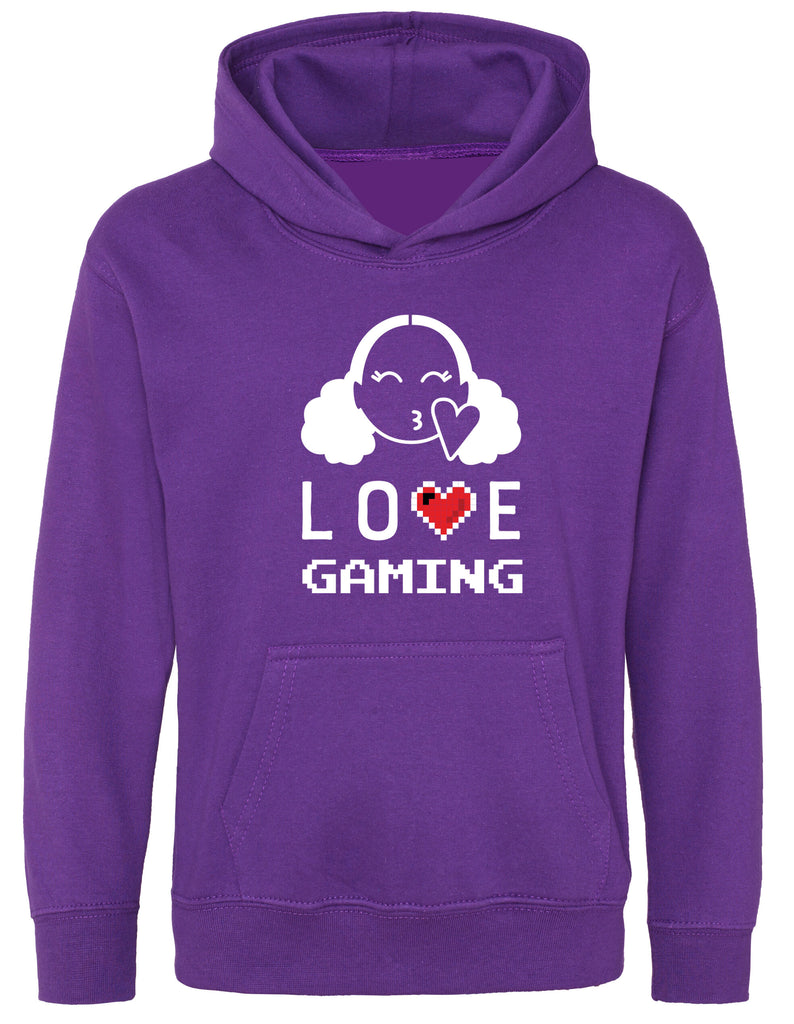 Hearts By Tiana - Love Gaming Hoodie in Purple