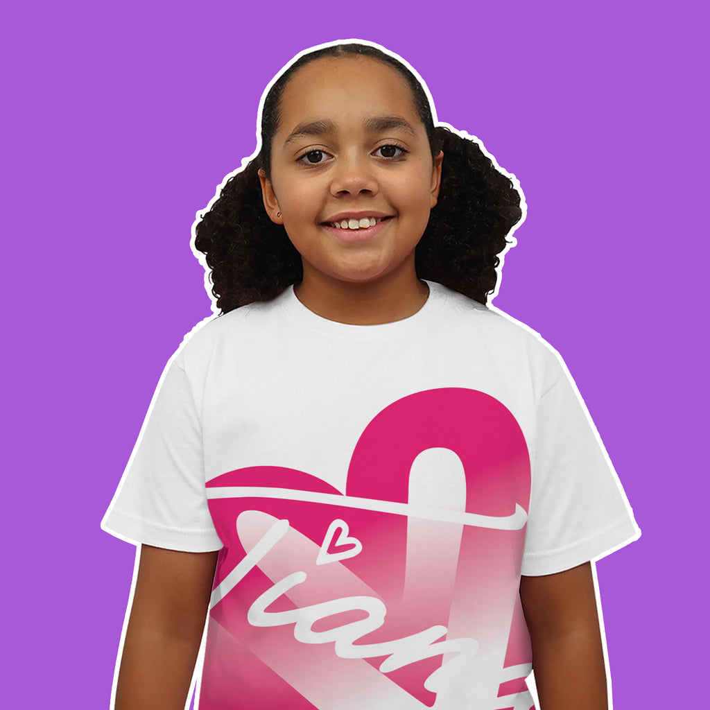 One Heart Pink T Shirt