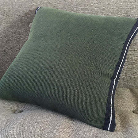 Emerald accent pillow