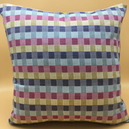 Checkered accent pillow