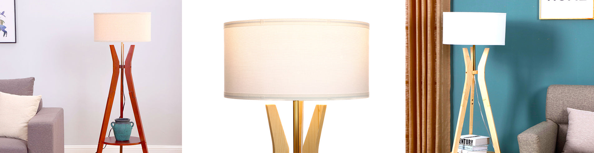 The Charlotte LED Tripod Floor Lamp fits in beautifully amid mid century modern architecture and décor. The gently curving leg design creates a sculpted look that makes it a great conversation piece, and the built-in wooden shelf works perfectly as a display or end table next to your couch or armchair.