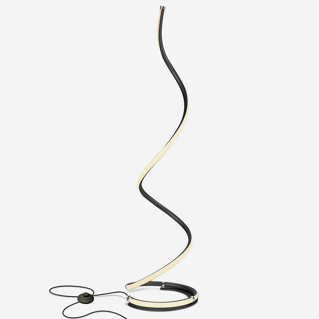 Classic Black Allure Tall Lamp for Living Rooms - Modern, Standing LED Light