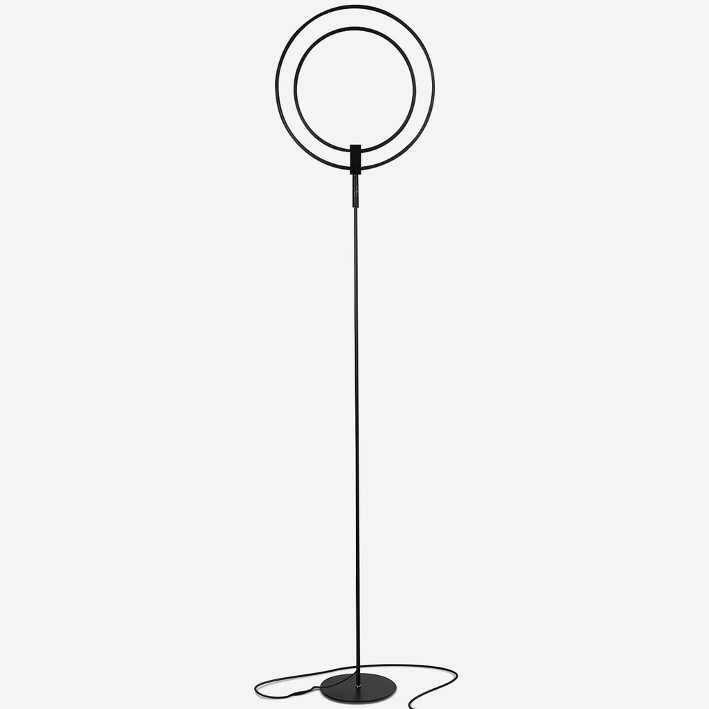 Black Eclipse LED Floor Lamp: Tall Reading Lamp With a Modern Twist Ambience