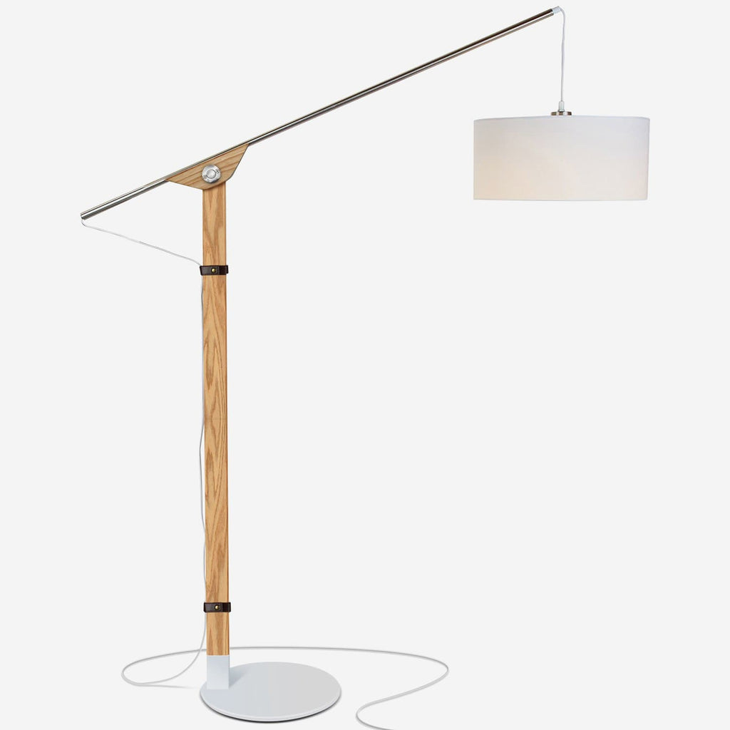 Eithan - LED Floor Lamp – Modern Contemporary Elevated Crane Arc Floor Lamp Eithan LED Floor Lamp: Arc Free Standing Hanging Modern Light