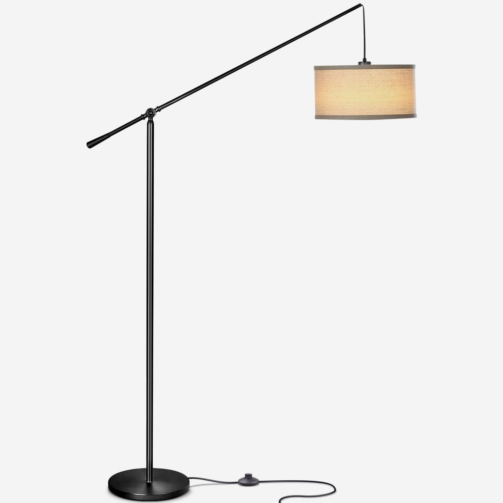 Black Hudson LED Floor Light: Vintage Lamp Elegant Design Living Room