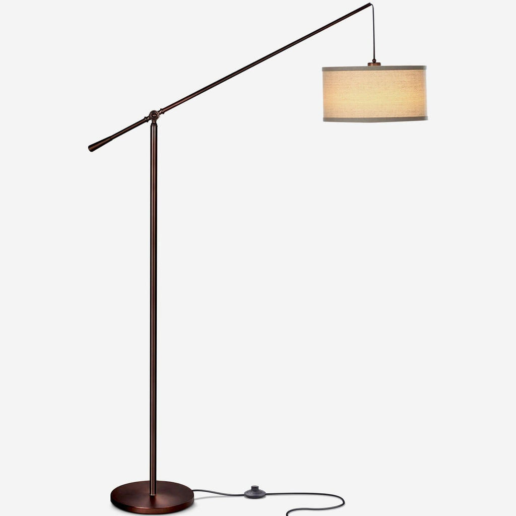 Brown Hudson LED Floor Light: Vintage Lamp Elegant Design Living Room