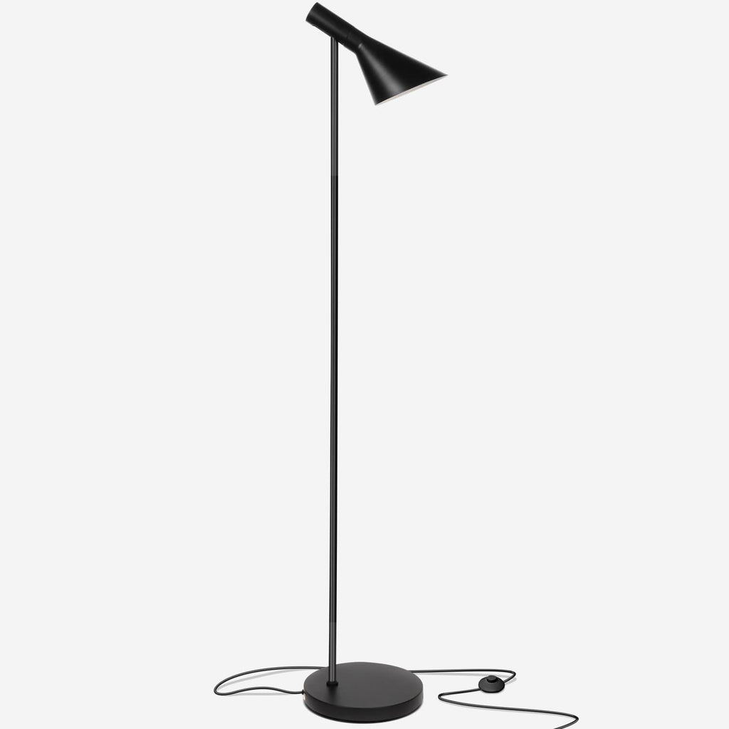 Classic Black Levi LED Focused Floor Lamp – Contemporary Mid Century Modern