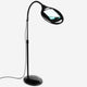 5 Diopter (2.25x) LightView Pro LED Magnifying Floor Lamp Black