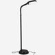 Classic Black LiteSpan LED Floor Lamp: Living Room Free Standing Brigh Light Modern