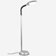 Titanium Silver LiteSpan LED Floor Lamp: Living Room Free Standing Brigh Light Modern