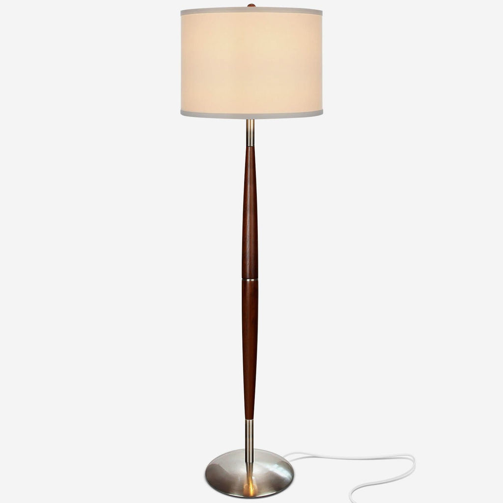 Lucas - LED Pole Floor Lamp, Tall Standing Drum Shade Lighting, All Rooms Lucas - LED Pole Floor Lamp, Tall Standing Drum Shade Lighting, All Ro