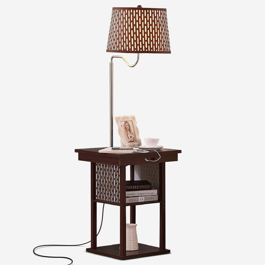 Havanah Brown with Brown Shade Madison Floor and Table Lamp: Modern Shelves and Lighting for Bedrooms