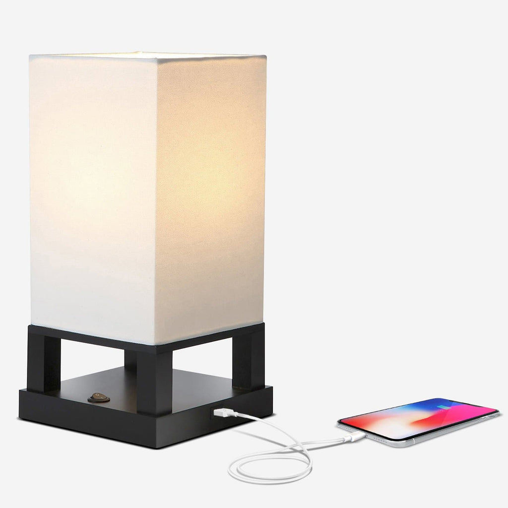 a036df746c5e6 Classic Black Maxwell Table Lamp Modern Desk Light USB Alexa Echo Dot  Google Home