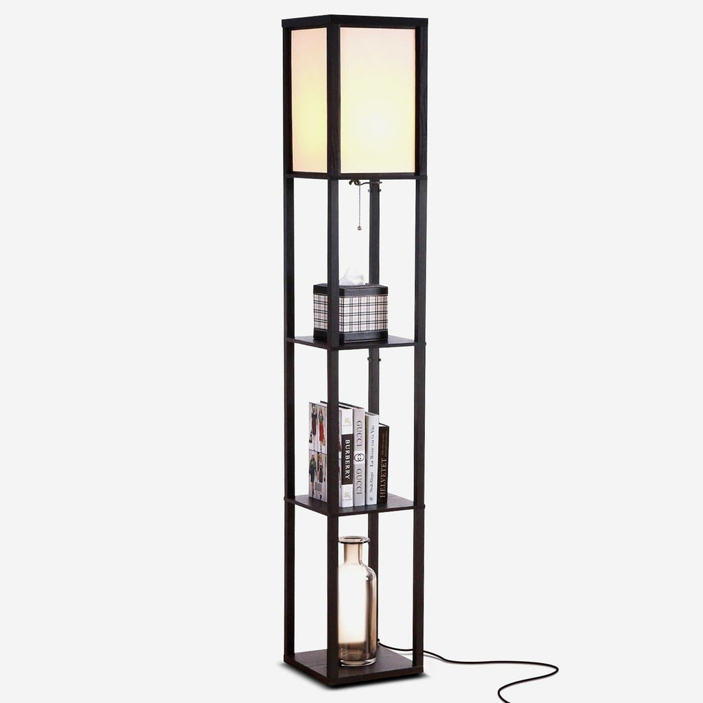 e3f943276ec0b Classic Black Maxwell LED Shelf Lamp - Floor Standing Modern Light w.  Display Shelve