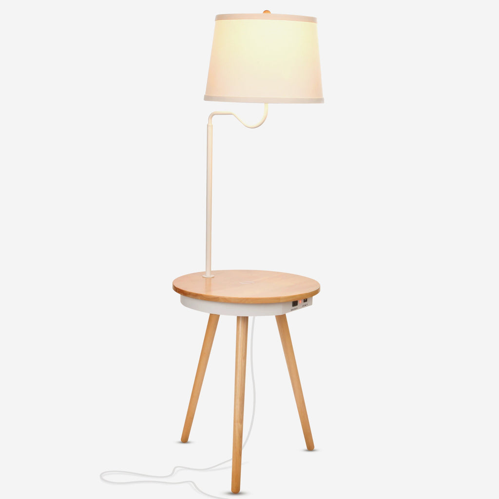 Owen Nightstand With Led Lamp Attached Wireless Charging