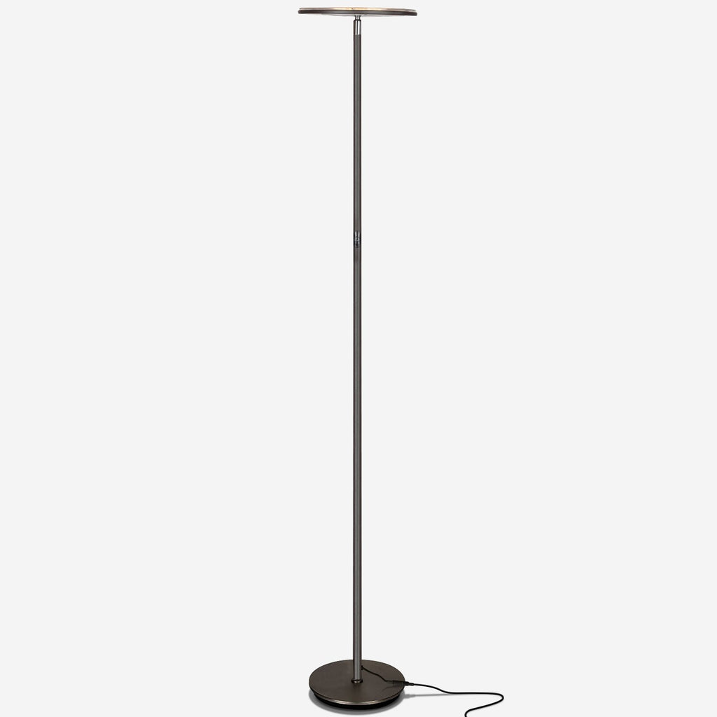 Dark Bronze SKY Flux LED Torchiere Floor Lamp Living Room & Office, Light Dimmabl