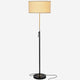 Jet black Telescope- Modern LED Floor Lamp for Living Rooms & Offices