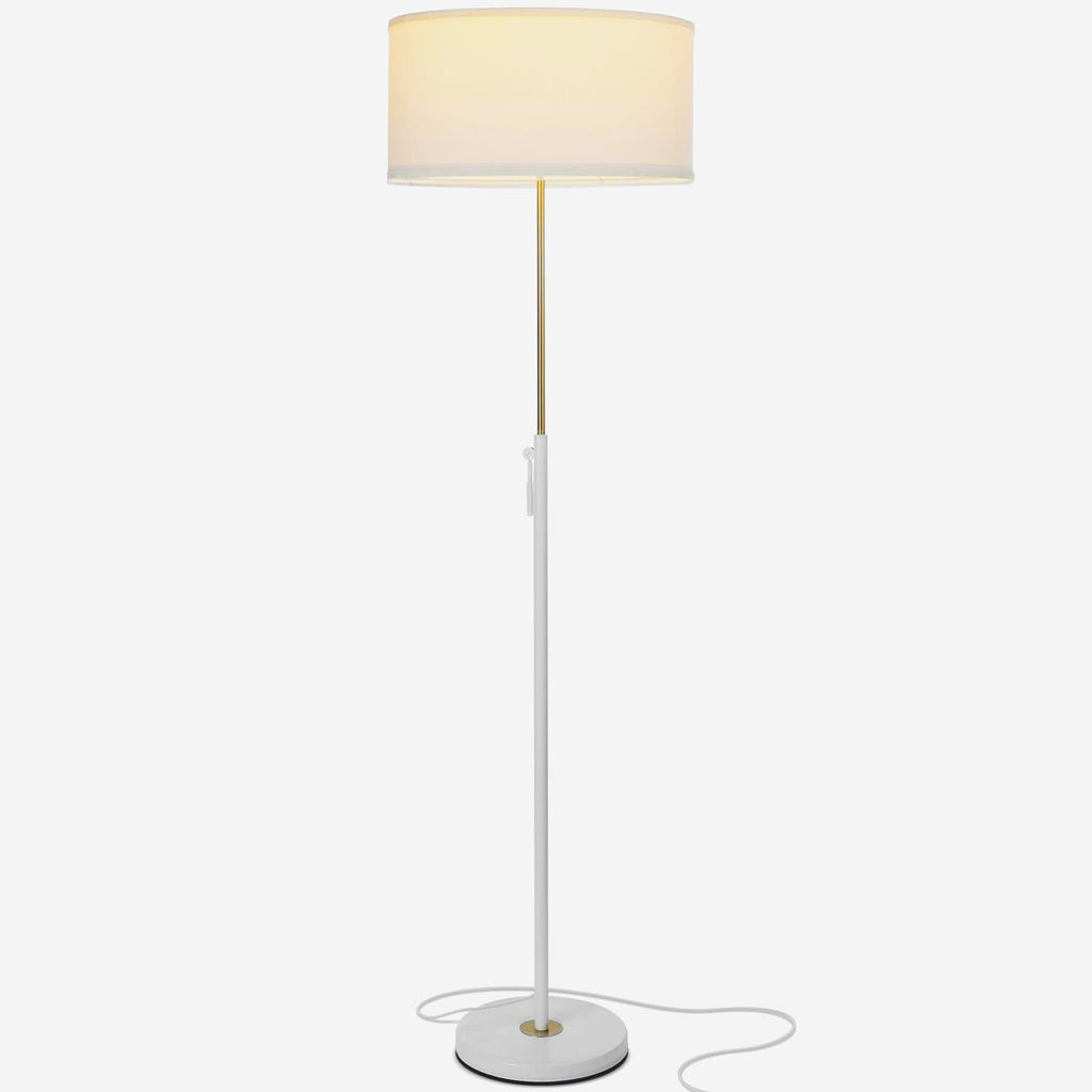 Alpine White Telescope- Modern LED Floor Lamp for Living Rooms & Offices