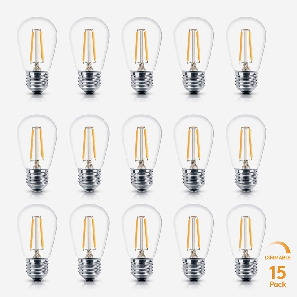 Ambience PRO LED S14 2 Watt 2700K Dimmable Bulb - 15 Pack Warm White Brightech Ambience PRO LED S14 2 Watt Warm White 2700K Dimmable Bulbs