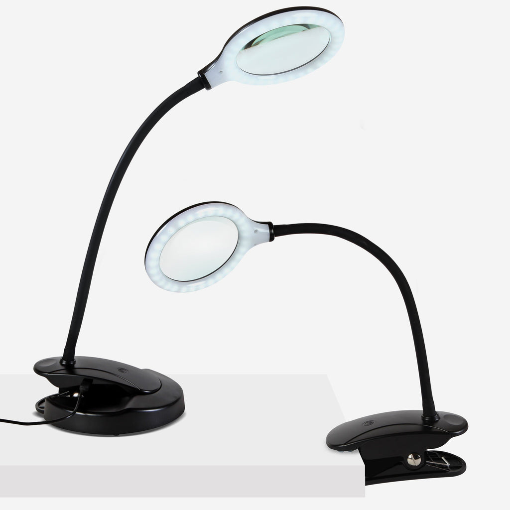 Black Rechargeable Battery & Portable LED Magnifying Lamp