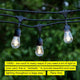 48 ft Ambience Pro Outdoor String Lights: LED Bistro, Cafe Edison Light 2W