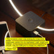 Black Circle USB LED Table Light: Futuristic desk lamp for bedrooms