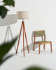 Eden Floor Lamp Eden LED – Wood Tripod Floor Lamp – Mid Century Modern Light