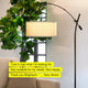 Black Grayson LED Floor Lamp: Modern light for your living and dining room