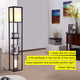 Classic Black Maxwell LED Shelf Lamp - Floor Standing Modern Light w. Display Shelve