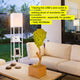 Orchid White Maxwell USB Floor Lamp: Tall Freestanding Shelving Lighting Unit