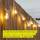 White Ambience Pro Globe Outdoor String Lights: Waterproof Patio Lighting