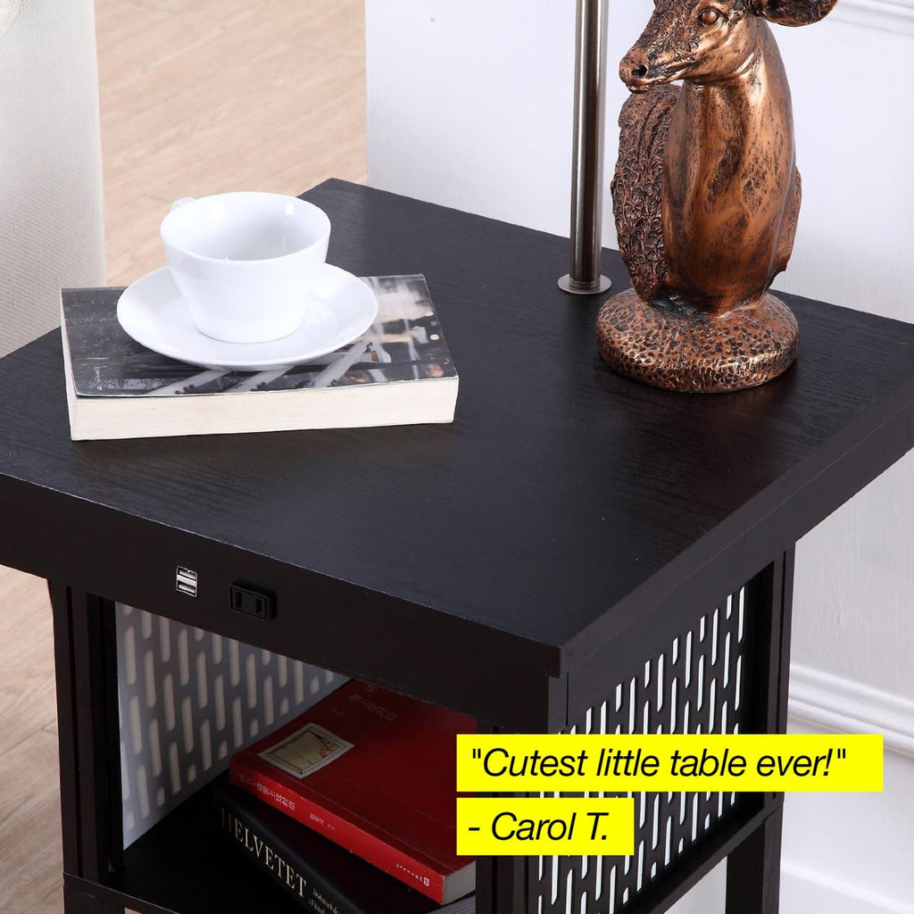 Classic Black with Pattern Shade Madison Floor and Table Lamp: Modern Shelves and Lighting for Bedrooms