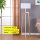 Natural Wood Mia LED Floor Lamp: Modern Tripod Tall Freestanding for Living Room