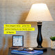Noah - Wood Table & Desk Lamp - Reading Light - LED Bulb & Cone Shade Noah LED Table Lamp: Reading Shelf Light Modern Classic Warm Glow