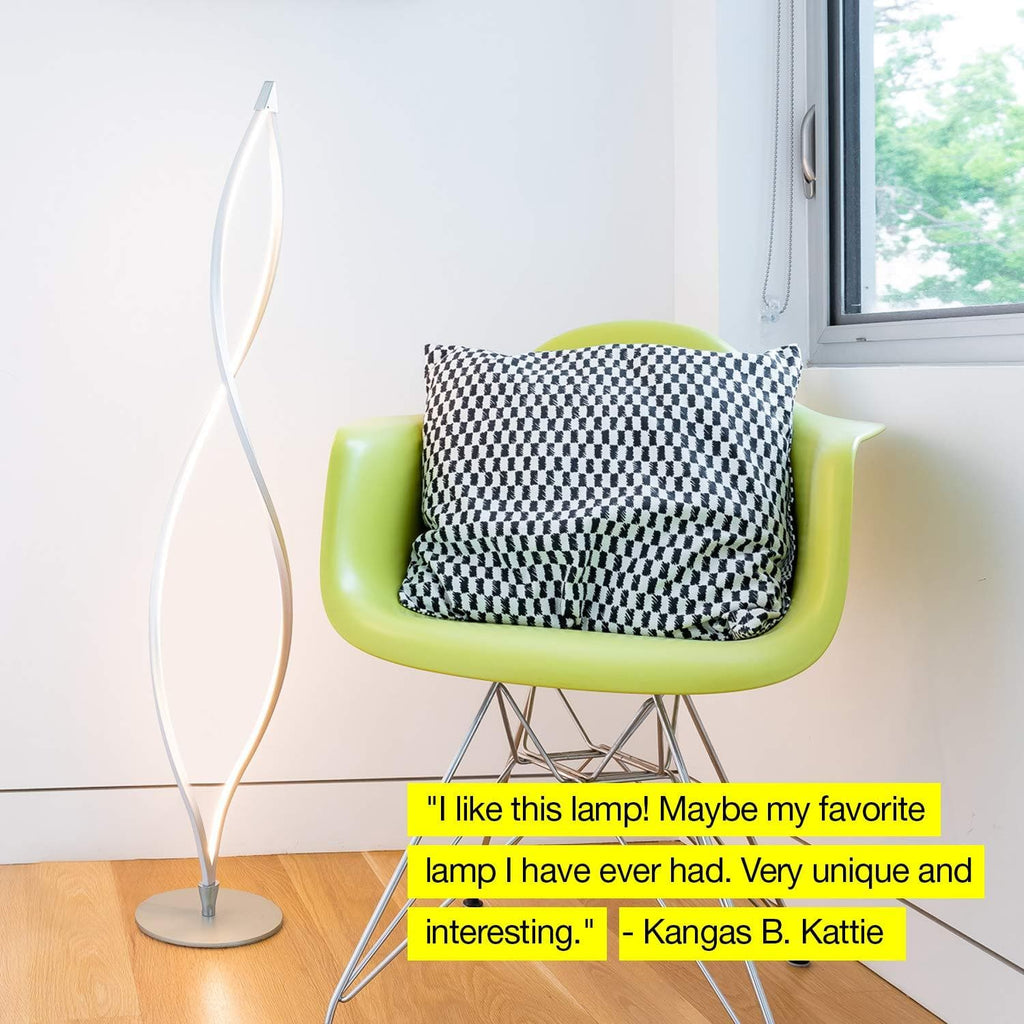 Twist Led Floor Lamp Unique Amp Modern Dimmable Brightech