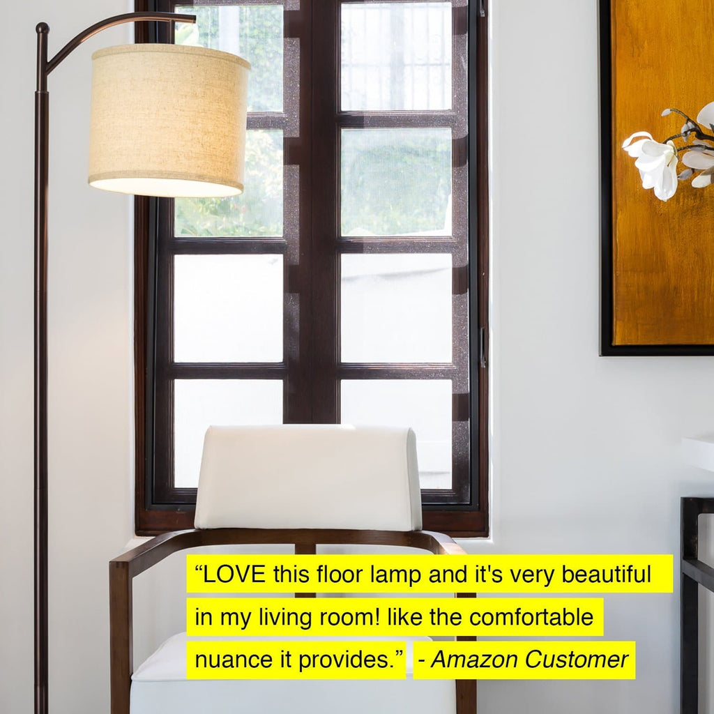 Oil Rubbed Bronze Montage Floor Lamp: Classic Living Room Pole and Arc Light for Reading