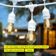 Ambience Pro LED 2W White - Waterproof LED Outdoor String Lights - 48 Ft Ambience Pro Outdoor String Lights: LED Hanging Waterproof 2Watt