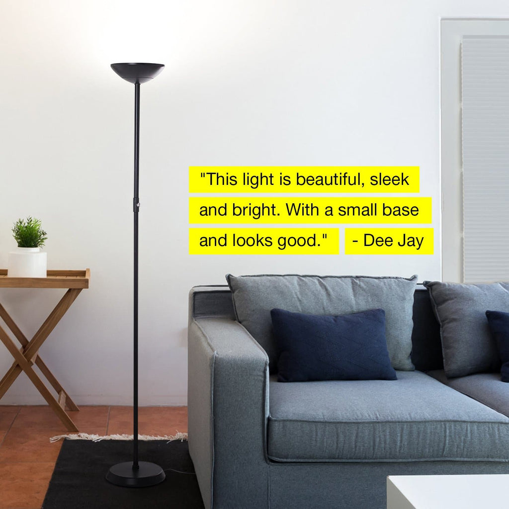 SkyLite - LED Torch Floor Lamp: Bright Living Room & Bedroom Light