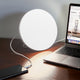 Platinum Silver Brightech Wellness Lamp - Therapeutic Sunlamp with Built-in USB Port
