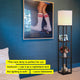 Classic Black Maxwell USB Floor Lamp: Tall Freestanding Shelving Lighting Unit