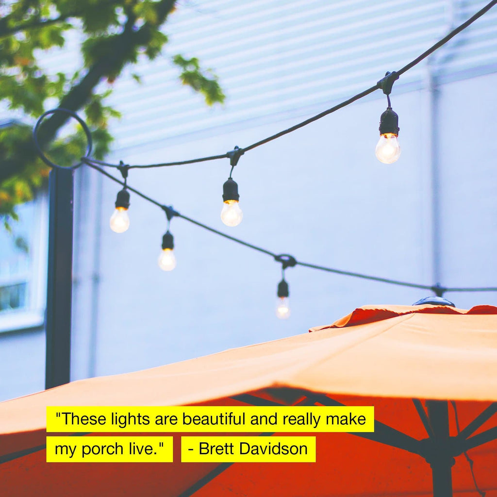 sports shoes 0d0b6 4e5f4 Ambience Pro Outdoor String Lights: LED Hanging WaterProof ...