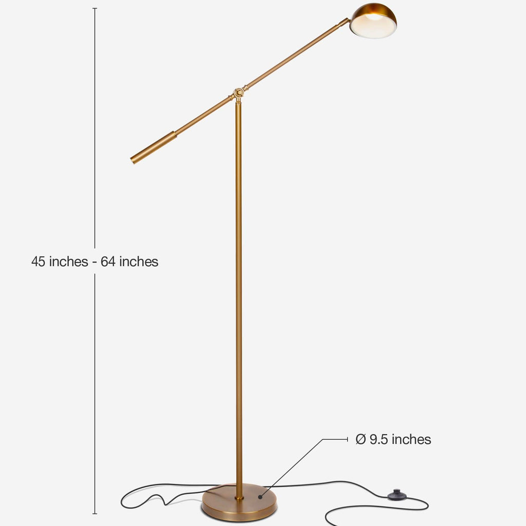 Gabriel Led Reading Amp Task Floor Lamp Standing