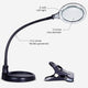 Black - 5 Diopter LightView Table Flex Magnifier Lamp Reading, Hobbies, Painting, Stitch