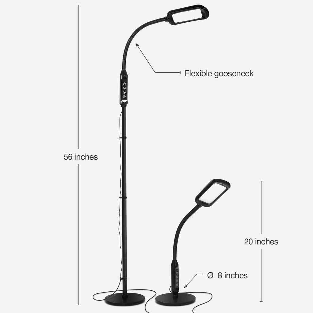 3 Diopter LiteSpan 2in1 LED Floor Lamp: Hobbies, Crafts, Projects, Bright Adjust