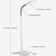 Alpine White LiteSpan LED Floor Lamp: Living Room Free Standing Brigh Light Modern