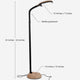 Natural Wood LiteSpan LED Floor Lamp: Living Room Free Standing Brigh Light Modern