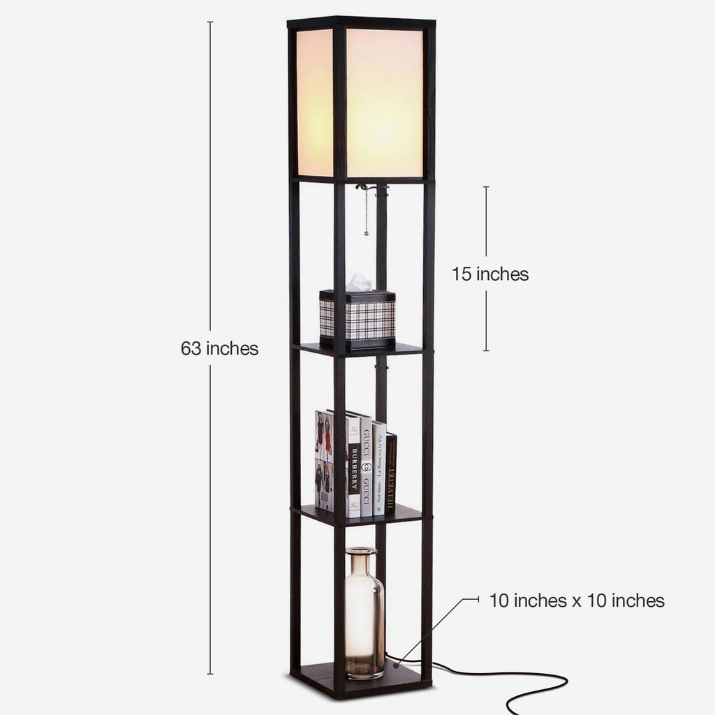 new styles ec49a 0746b Maxwell LED Shelf Lamp - Floor Standing Modern Light w. Display Shelves