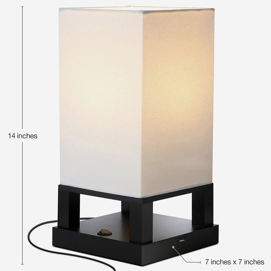 Maxwell Table Nightstand Desk Table Lamp Bedroom Light W Usb
