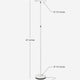 Alpine White SKY Flux LED Torchiere Floor Lamp Living Room & Office, Light Dimmabl
